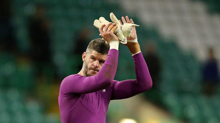 Fraser Forster impressed with a string of saves for Celtic against Rennes
