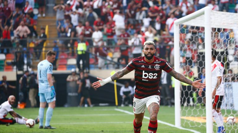 Gabriel Barbosa was the hero for Flamengo