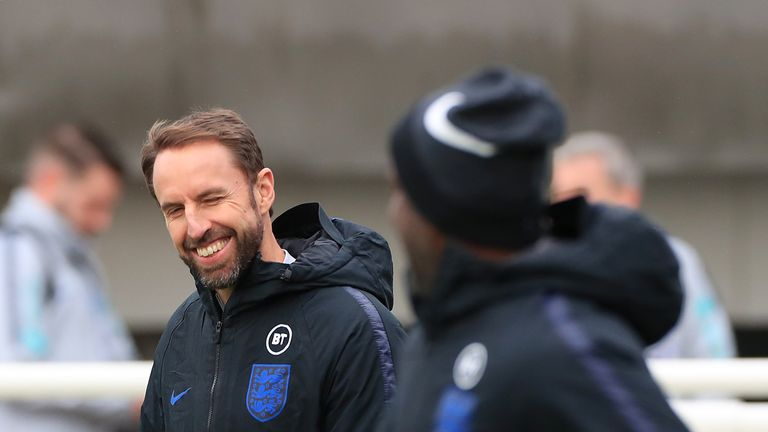 England manager Gareth Southgate during the training session at St George's Park
