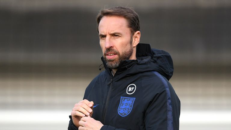 England manager Gareth Southgate during training at St George's Park
