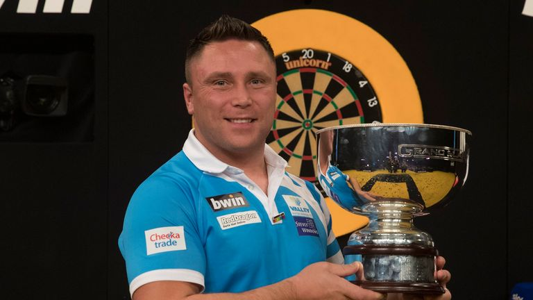 Gerwyn Price will be aiming to defend his Grand Slam of Darts crown