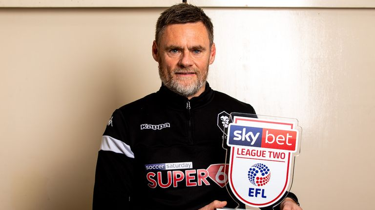 Graham Alexander of Salford City wins the Sky Bet League Two Manager of the Month award - Mandatory by-line: Robbie Stephenson/JMP - 07/11/2019 - FOOTBALL - Partington Sports Village - Manchester, England - Sky Bet Manager of the Month Award