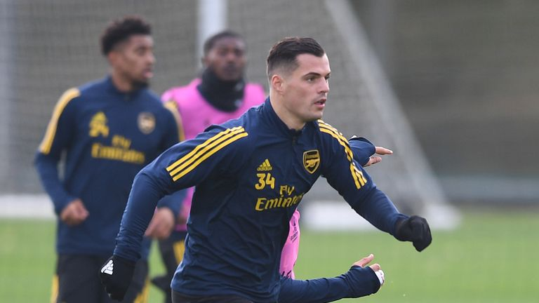 Granit Xhaka has been in training and is expected to start against Vitoria