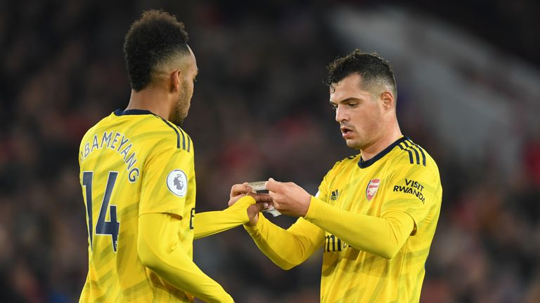 Pierre-Emerick Aubameyang was appointed captain after Granit Xhaka
