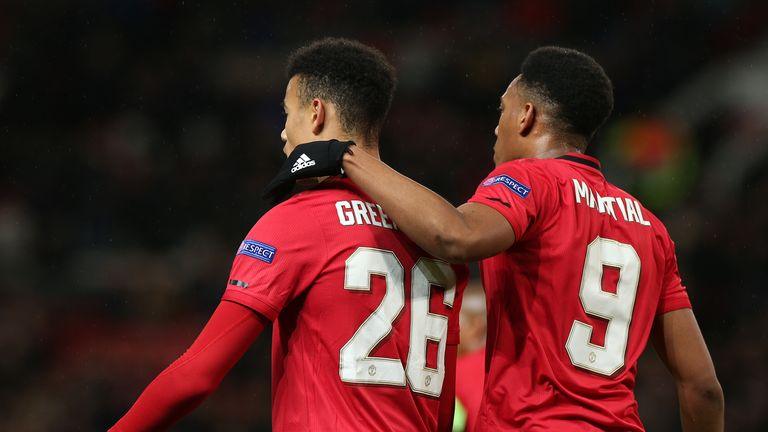 Mason Greenwood and Anthony Martial starred for Manchester United against Partizan Belgrade