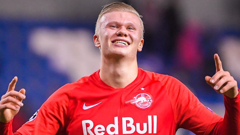 Erling Haaland has scored 15 times in 10 games for RB Salzburg in the Austrian top flight