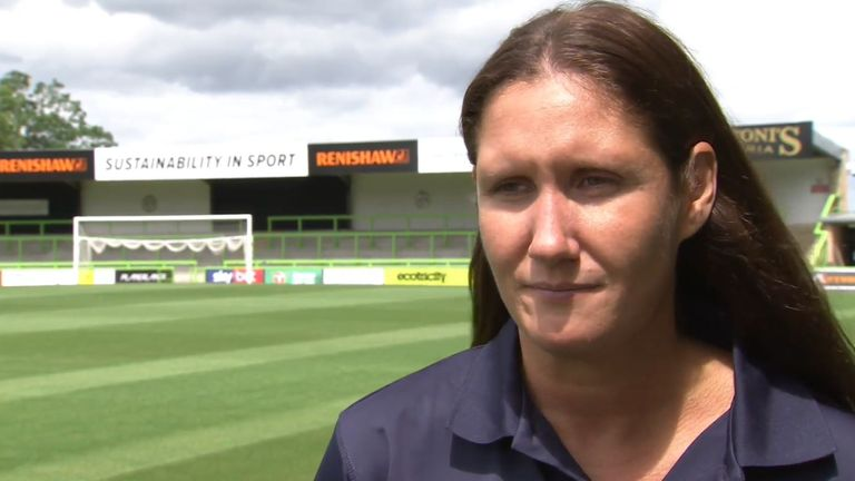 Forest Green Rovers academy manager Hannah Dingley