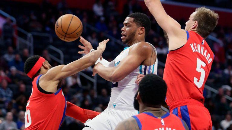 Charlotte Hornets against Detroit Pistons in the NBA
