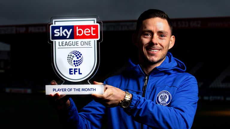 Ian Henderson of Rochdale wins the Sky Bet League One Player of the Month award - Mandatory by-line: Robbie Stephenson/JMP - 07/11/2019 - FOOTBALL - Spotland - Rochdale, England - Sky Bet Player of the Month Award