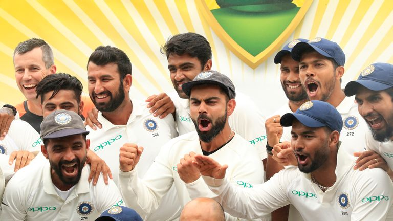 India are the top-ranked Test team in the world