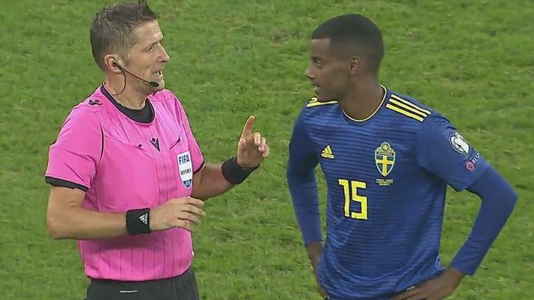 Sweden striker Alexander Isak