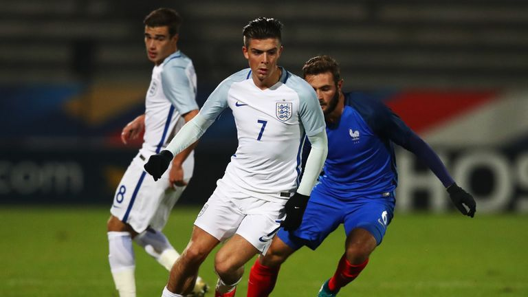 in action during the U21 International Friendly match France U21 and England U21 at the Stade Robert Bobin on November 14, 2016 in Paris, France.