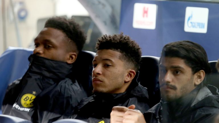 Sancho was benched for Dortmund's clash with Barcelona in the Champions League