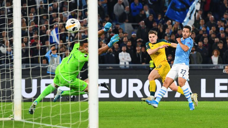 Celtic's James Forrest strikes to make it 1-1 against Lazio