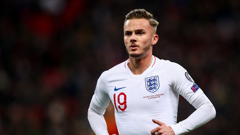 James Maddison could earn his first England start on Sunday
