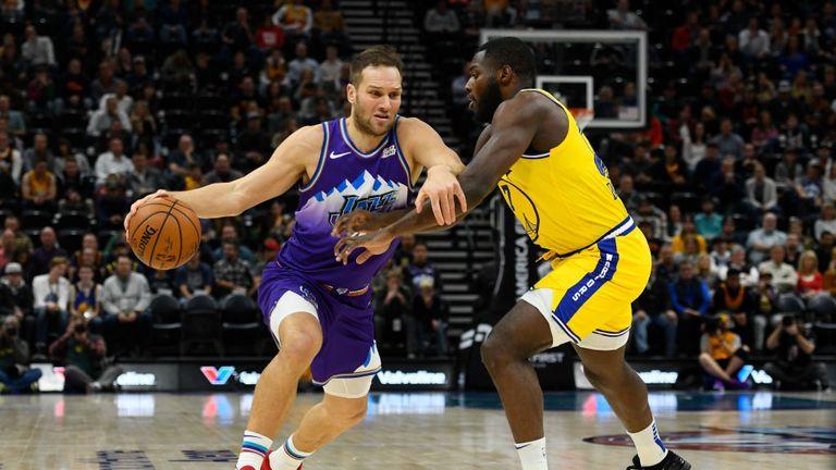Utah Jazz against Golden State Warriors in the NBA