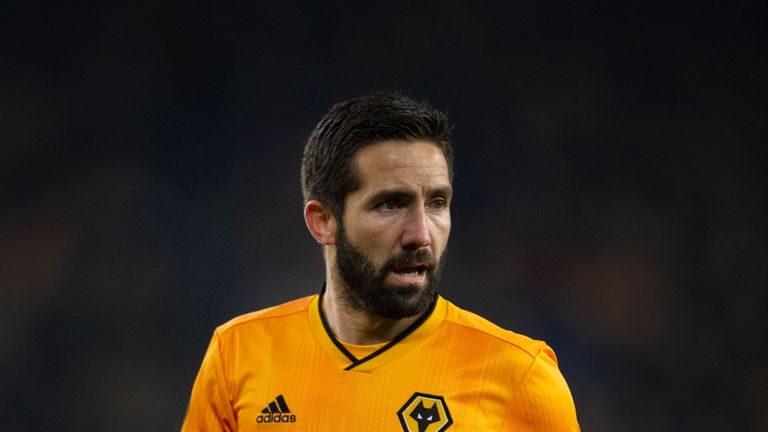 WOLVERHAMPTON, ENGLAND - NOVEMBER 07: Joao Mountinho of Wolverhampton Wanderers in action during the UEFA Europa League Group K match between Wolverhampton Wanderers and Slovan Bratislava at Molineux on November 7, 2019 in Wolverhampton, United Kingdom. (Photo by Visionhaus) *** Local Caption *** Joao Mountinho