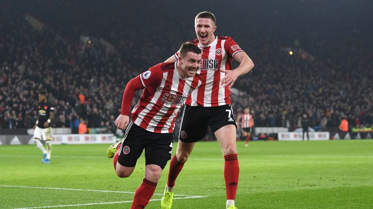 John Fleck opened the scoring for Sheffield United in the first half