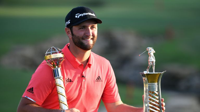 Rahm ended the season as European No 1 after winning the DP World Tour Championship in 2019