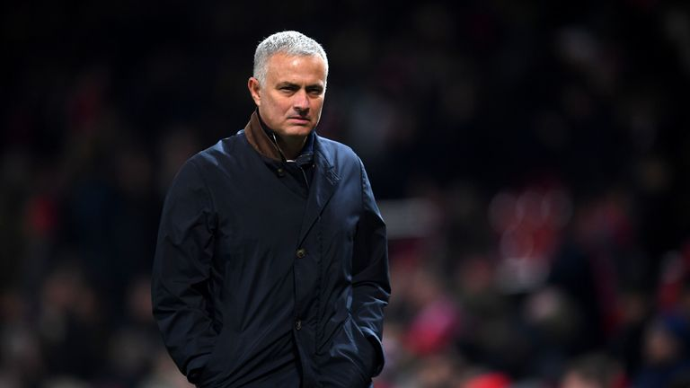 Jose Mourinho during the UEFA Champions League, Group H match between Manchester United and BSC Young Boys at Old Trafford on November 27, 2018