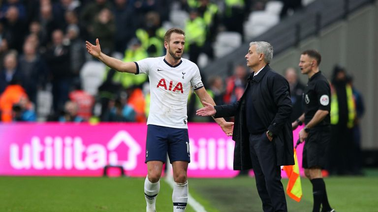 Captain Harry Kane marked Jose Mourinho's first game as Tottenham manager with a goal