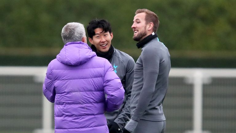 Mourinho will be without influential attacking duo Harry Kane and Heung-Min Son