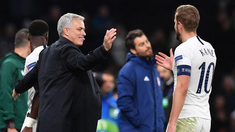 Mourinho praised Harry Kane's return from injury against United