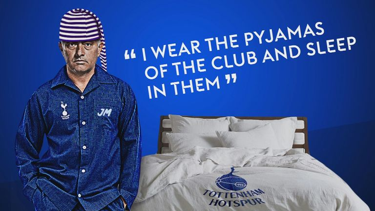 'I wear the Pyjamas of the club and sleep in them'