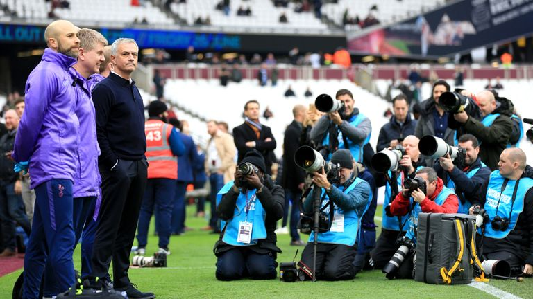 Jose Mourinho at the London Stadium before his first match as the new Spurs head coach