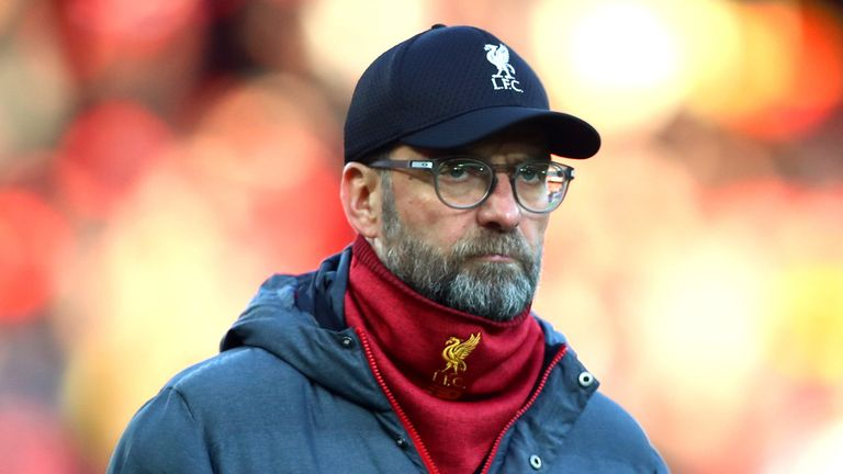 Klopp is paying no attention to Liverpool's previous record of faltering after being top at Christmas