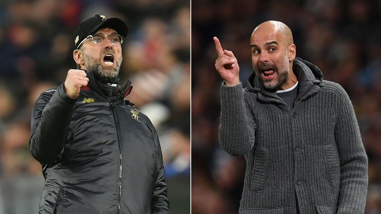Jurgen Klopp and Pep Guardiola go head-to-head at Anfield on Sunday