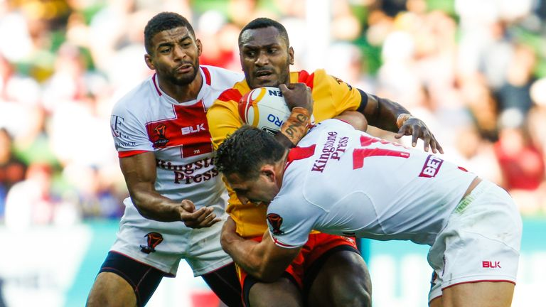 England faced Papua New Guinea in the 2017 Rugby League World Cup quarter-finals