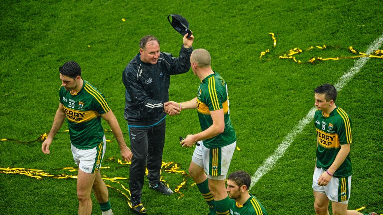 Gavin consoles Donaghy after the 2015 All-Ireland final