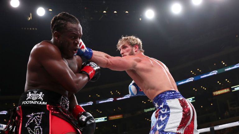 KSI fought Logan Paul twice - drawing the first in 2018, before winning the second in 2019