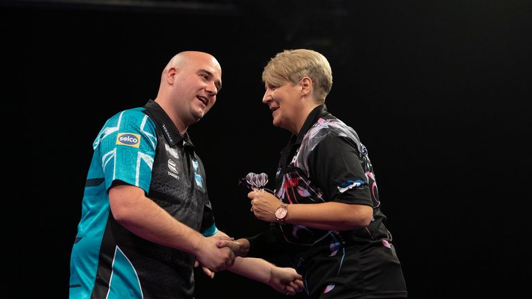 Ashton took on the likes of Rob Cross and Dave Chisnall at the Grand Slam of Darts in November