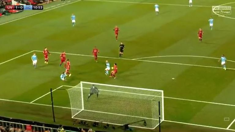 A reverse camera angle shows Michael Oliver had a clear view of the penalty incident, while Raheem Sterling waited at the far post