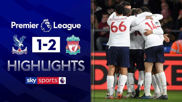 Palace v Liverpool highlights