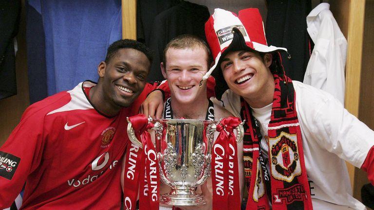 Louis Saha Wayne Rooney Cristiano Ronaldo