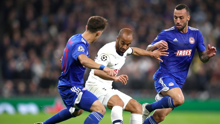 Moura played a key p[art in the 4-2 win over Olympiacos