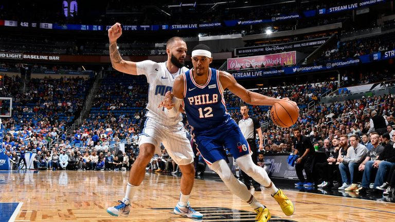 Orlando Magic against Philadelphia 76ers from the NBA