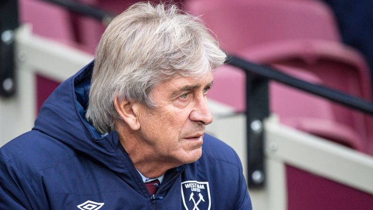 West Ham manager Manuel Pellegrini says the club's director of football cannot be judged until May