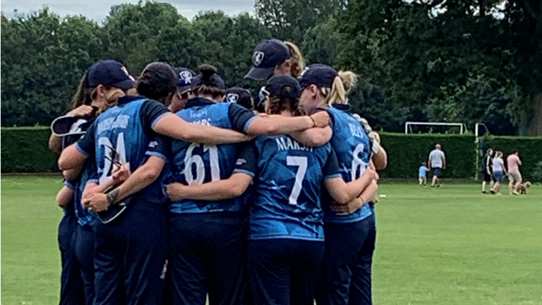Blythin says she is a 'realist' about her international prospects, having only played one county season with Kent thus far