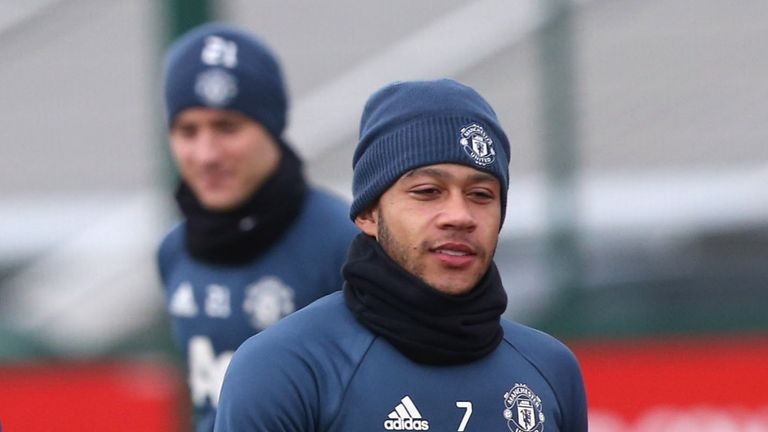 Memphis Depay left Manchester United in 2017