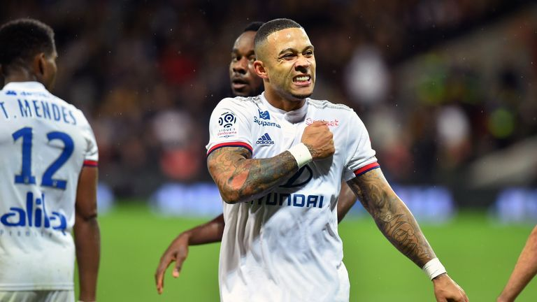 Manchester City's defence will need to keep a close eye out on Lyon forward Memphis Depay