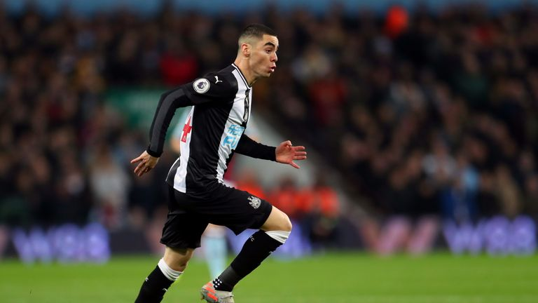 Miguel Almiron has yet to score for Newcastle this season