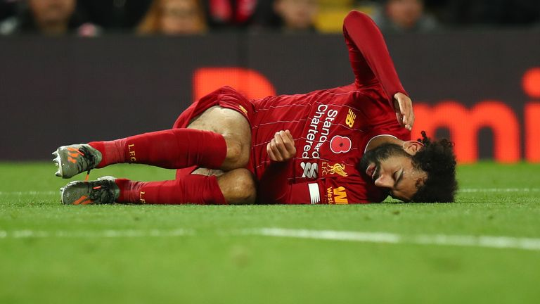 Liverpool sweat over fitness of Mohamed Salah and Andy Robertson