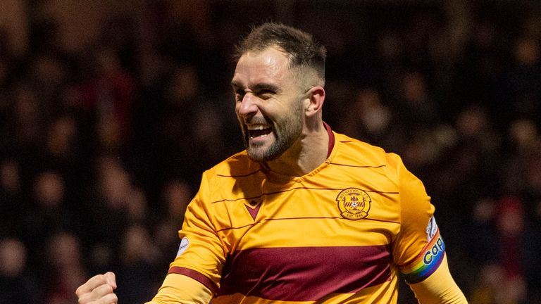 Peter Hartley scored Motherwell's second goal