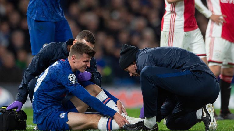 Mason Mount came off injured in the 4-4 draw with Ajax