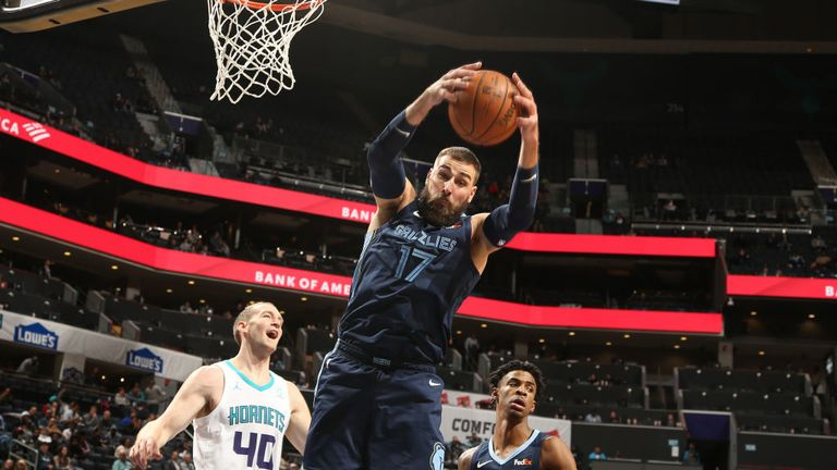 Memphis Grizzlies against Charlotte Hornets in the NBA