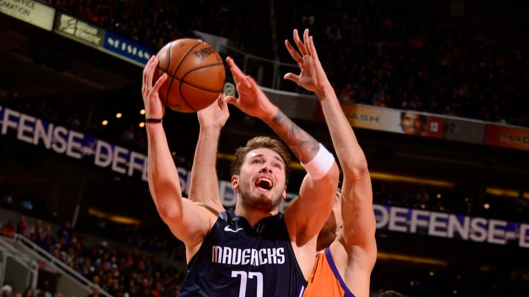 Luka Doncic produced another superb performance for the Mavericks against the Phoenix Suns